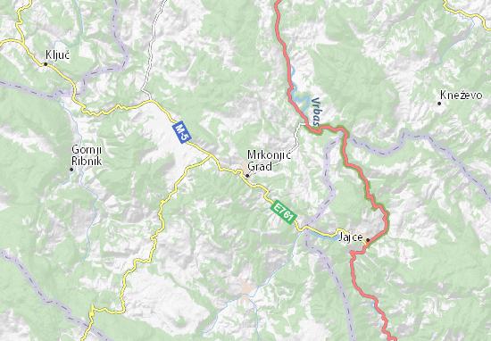 Mapas-Planos Mrkonjić Grad