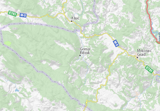 Kaart Plattegrond Gornji Ribnik