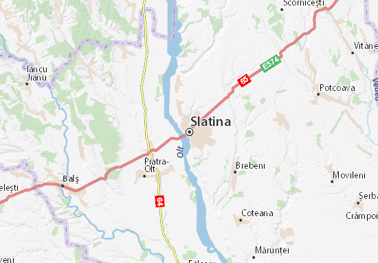 Map Of Slatina Michelin Slatina Map ViaMichelin - Map of or