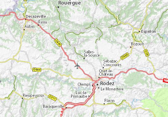Carte-Plan Salles-la-Source