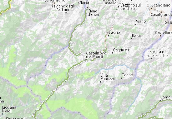 Karte Stadtplan Castelnovo ne' Monti
