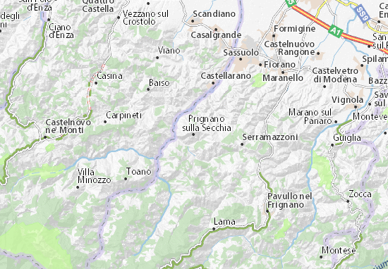 Prignano sulla Secchia Map