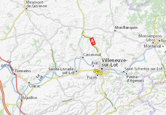 Casseneuil Map