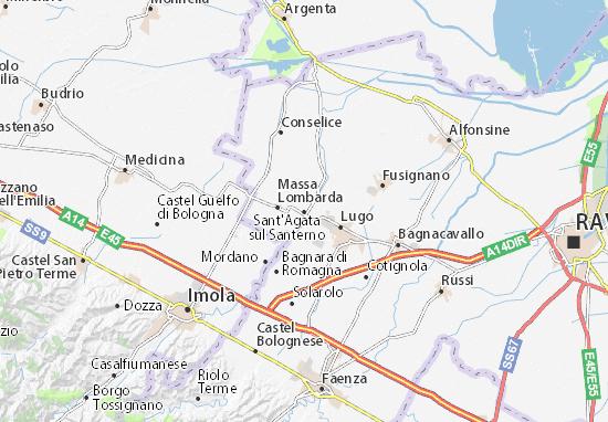Mapas-Planos Sant'Agata sul Santerno