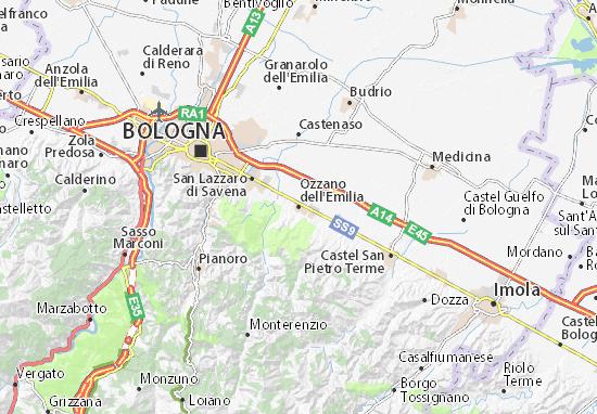 Mapas-Planos Ozzano dell'Emilia