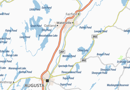 Mapas-Planos Vassalboro