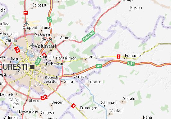 Brăneşti Map