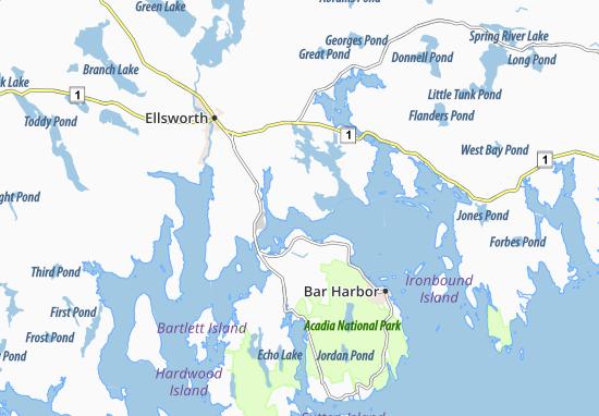 East Lamoine Map