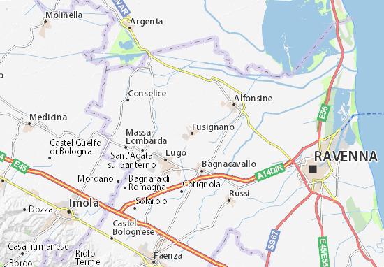 Fusignano Map