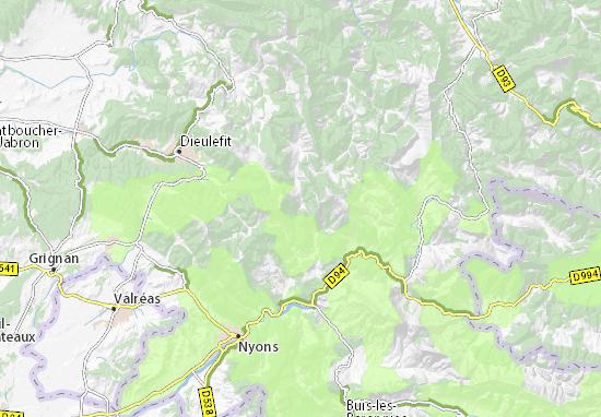 Kaart Plattegrond Chaudebonne