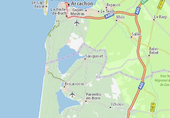 Sanguinet Map