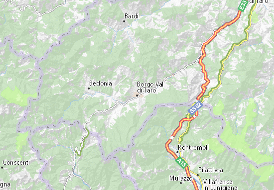 Mapas-Planos Borgo Val di Taro