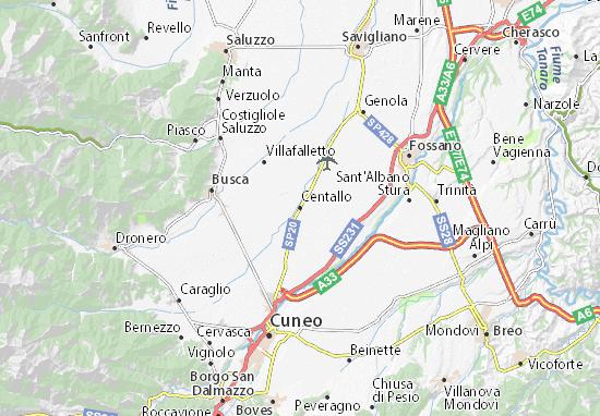 Kaart Plattegrond Centallo