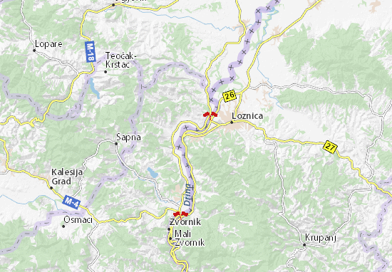 Mapa Plano Banja Koviljača