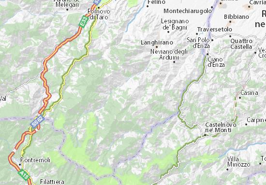 Mappe-Piantine Tizzano Val Parma