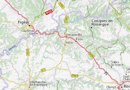 Carte-Plan Aubin
