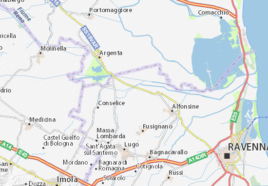 Mappa Voltana - Cartina Voltana ViaMichelin