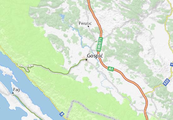 Mappe-Piantine Gospić