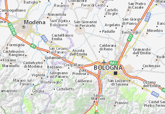 Mapas-Planos Anzola dell'Emilia