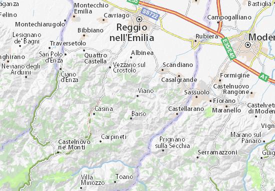 Karte Stadtplan Viano