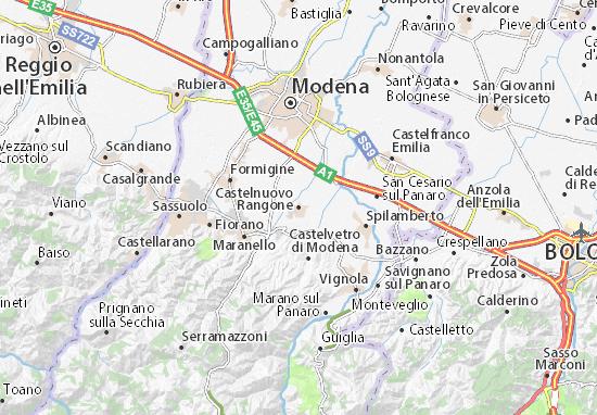 Carte-Plan Castelnuovo Rangone