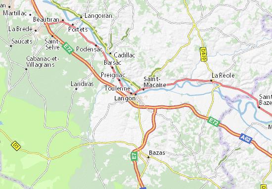 Mapa Plano Langon