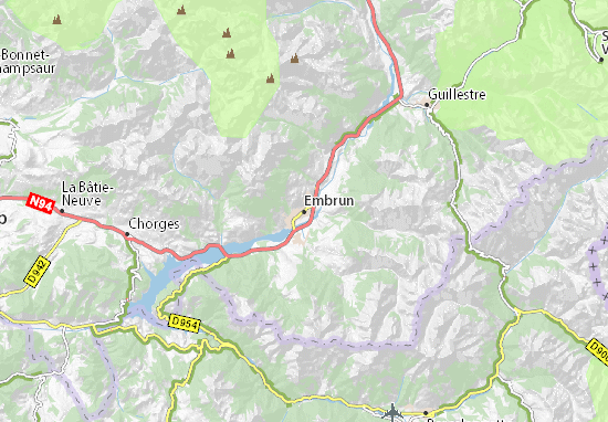 Carte-Plan Embrun