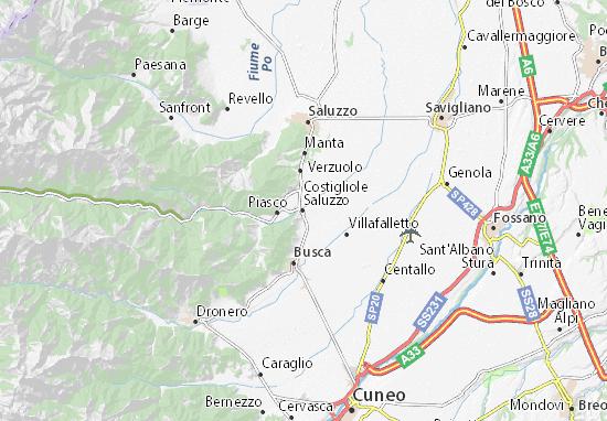 Kaart Plattegrond Costigliole Saluzzo