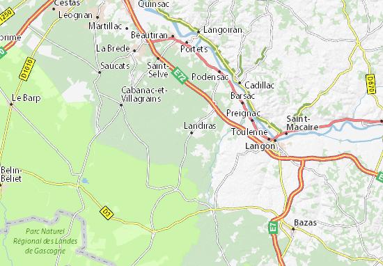 Landiras Map
