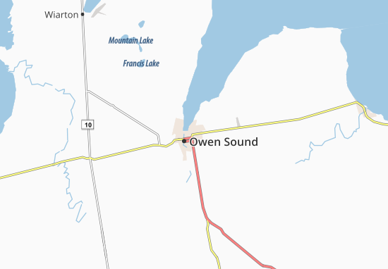 Carte-Plan Owen Sound