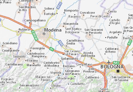 Karte Stadtplan Castelfranco Emilia