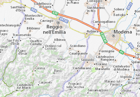 Scandiano Map