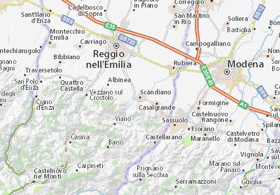 Karte Stadtplan Scandiano