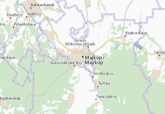 Kaart Plattegrond Majkop