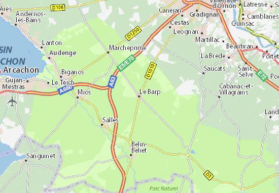 Le Barp Map