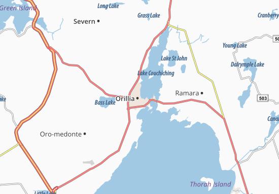 Carte-Plan Orillia