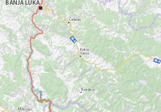 Kaart Plattegrond Kotor-Varoš