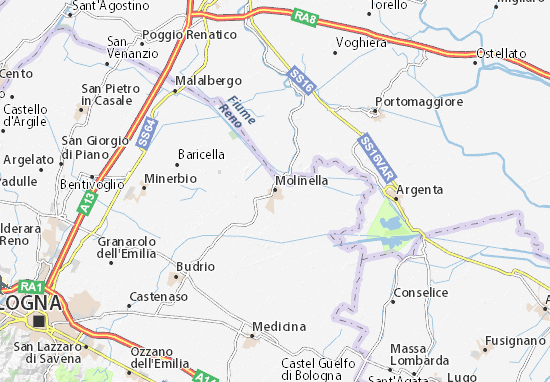 Molinella Map