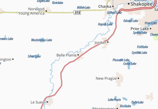 Belle Plaine Map