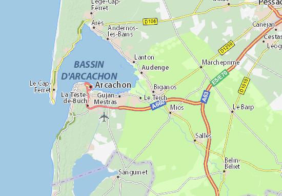 Carte-Plan Le Teich
