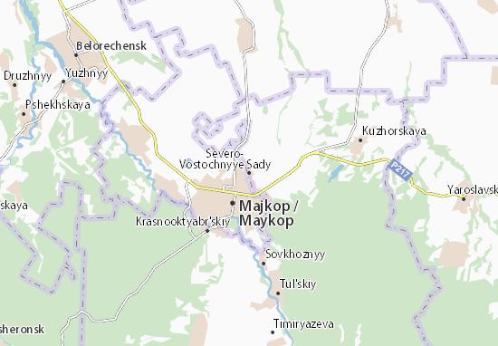 Kaart Plattegrond Severo-Vostochnyye Sady