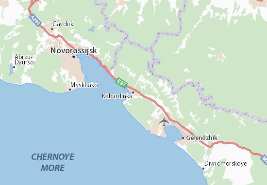Carte-Plan Kabardinka