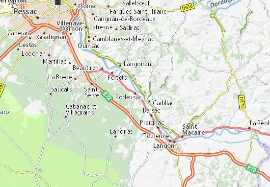 Mapa Plano Podensac