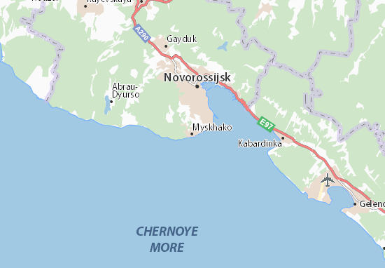 Myskhako Map