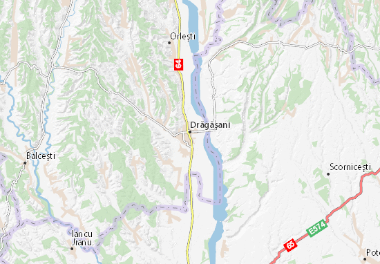 Drăgăşani Map
