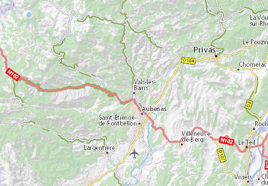 Carte-Plan Vals-les-Bains