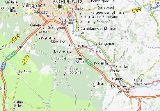 Saint-Selve Map