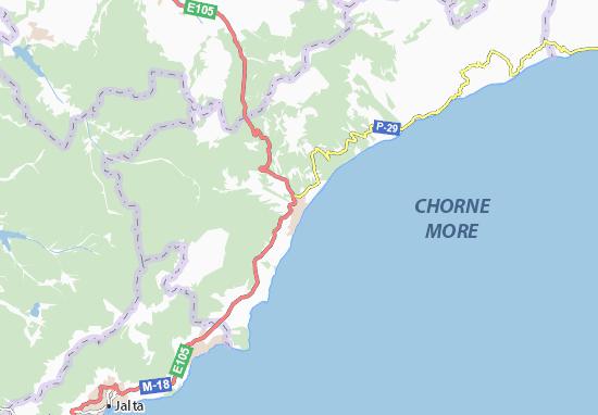 Mapa Plano Alushta