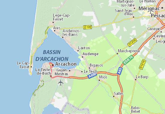 Audenge Map