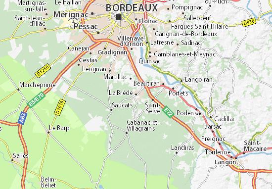 La Brède Map